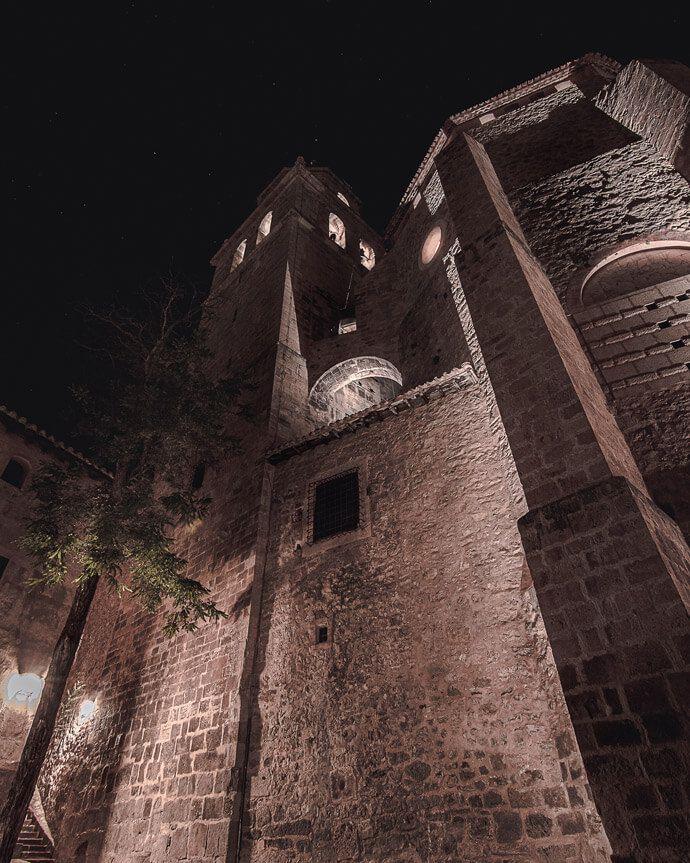 imagen de la Catedral de Albarracin desde el mirador
