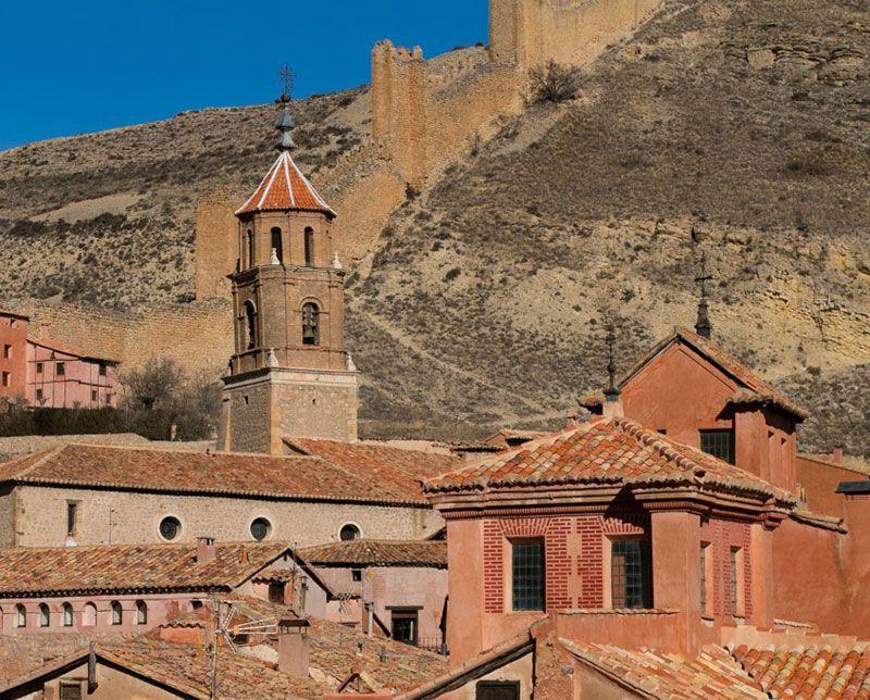 Fotografia de los edificios históricos de Albarracin