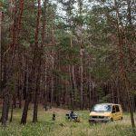 Fotografia de una campervan en la sierra de Albarracin