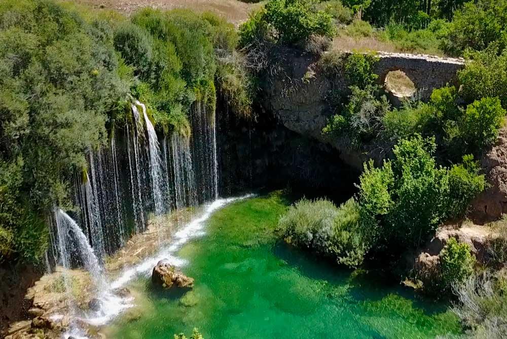 El Vallecillo Teruel Mapa.Cascada Del Molino De San Pedro En El Vallecillo Albarracin
