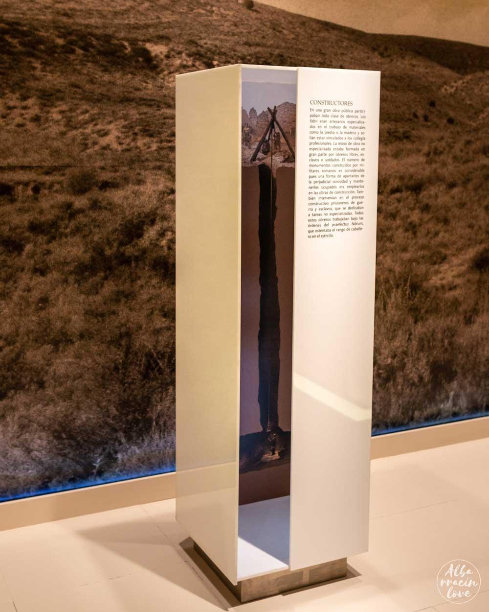 Fotografía del centro de interpretación en el Acueducto Romano de Gea de Albarracín