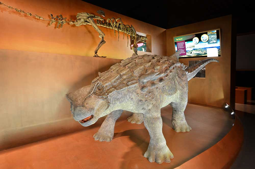 Imagen de un disosaurio en Dinopolis Valcaria, teruel