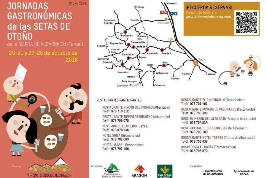 Jornadas Gastronómicas de las Setas de Otoño 2018- Sierra de Albarracin