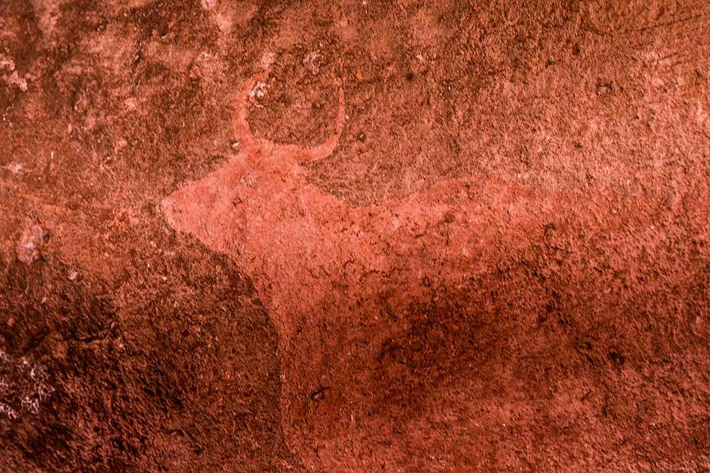 Imagen de las pinturas rupestres de Albarracin