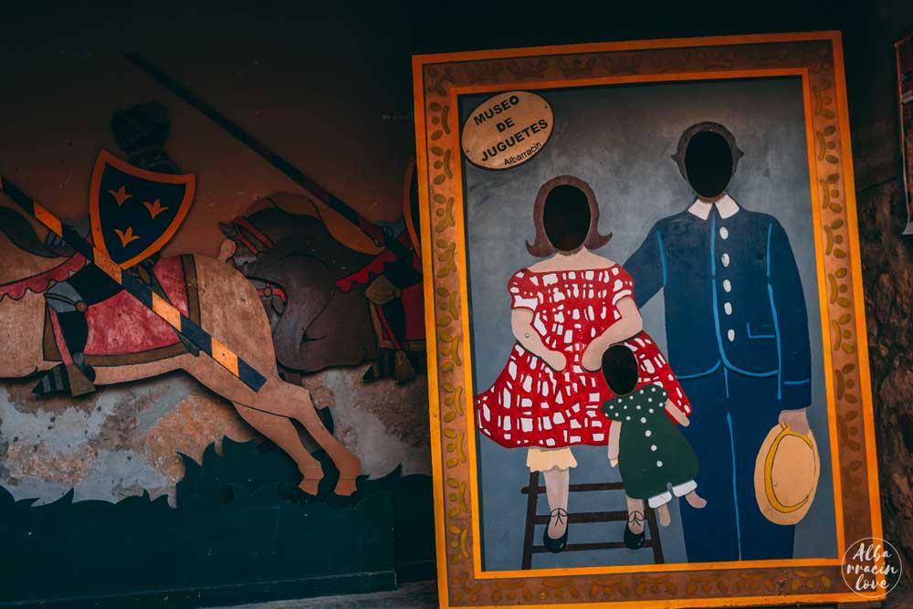 Fotografia de la exposicion en el Museo del Juguete de Albarracin