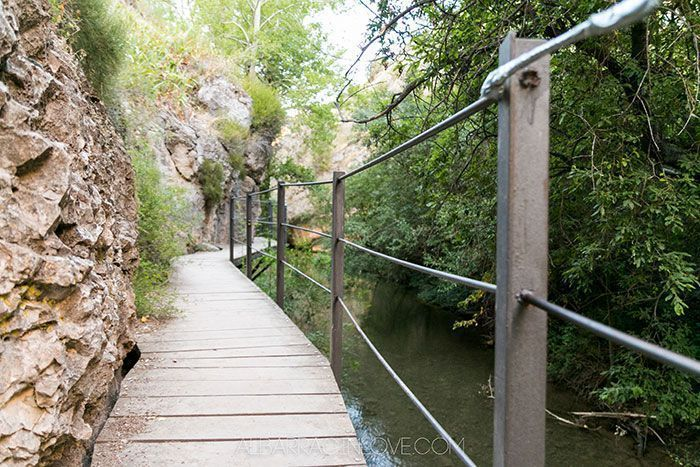 Imagen de una pasarela colgada