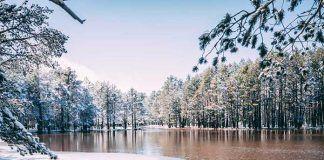 Fotografía de La Laguna de Noguera un día de nieve