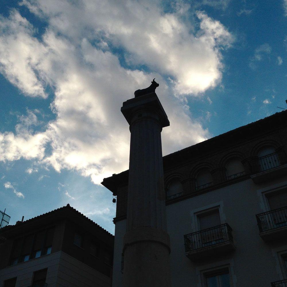 Que ver en Teruel: Plaza del Torico en Teruel, Aragón