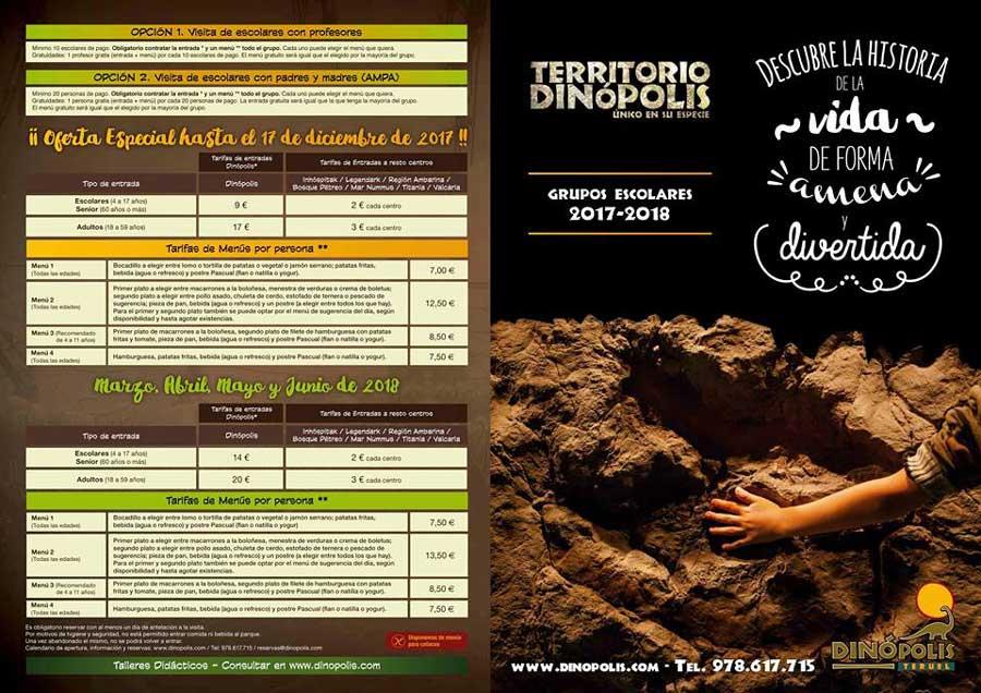 Fotografia del folleto Programa escolar Territorio Dinopolis