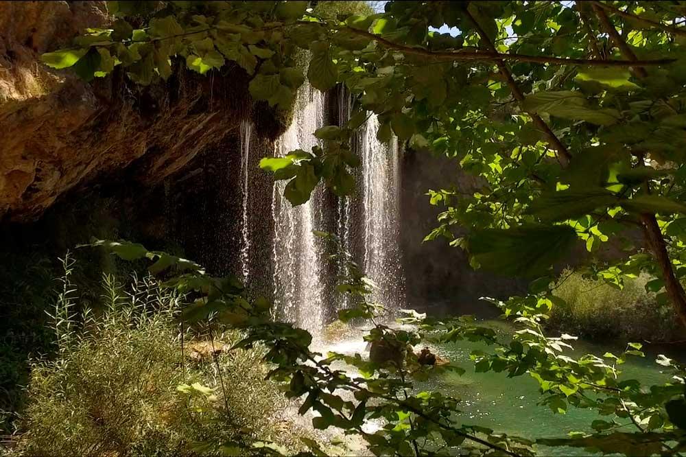 Fotografía de la Cascada del Molino de San Pedro en el Vallecillo, Sierra de Albarracín