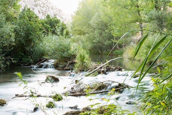 Imagen del rio Guadalaviar en su curso entre montañas