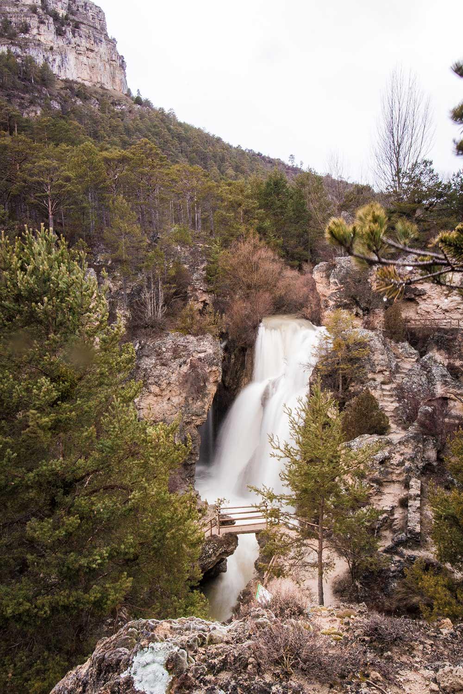 Imagen de la Cascada Batida de Calomarde
