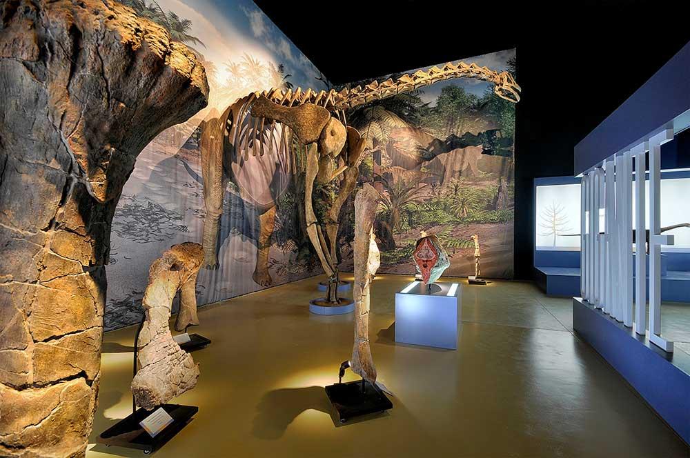 Imagen de una Réplica de dinosaurio en la instalación de Riodeva, Teruel